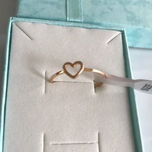 Fashion Jewelry Jewelry - New beautiful heart gold plated ring